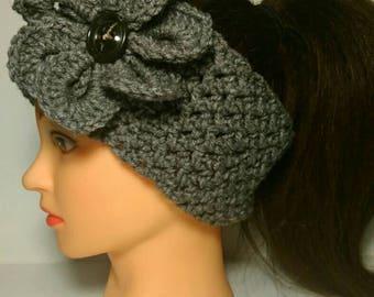 Headband * Ear Warmer * with or without flower * Head Band * EarWarmer