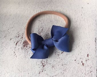"""Design Your Own Mini Hair Bow Headband; 2"""" Baby Bow; Newborn Headband; Soft Nylon Headband Bow; Tiny Bow; Small Bow"""