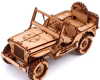 Jeep Willys. 3d Puzzle