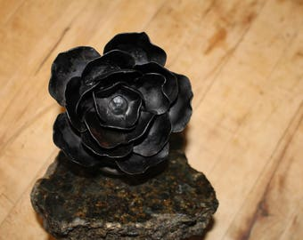 Hand Forged Iron Rose