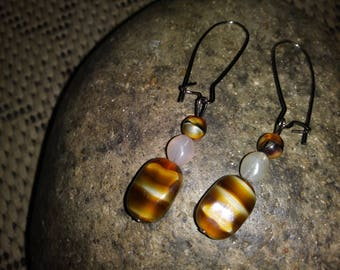 one of a kind hand made upcycled earrings