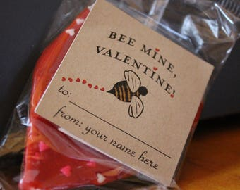 Bee Valentine Sticker