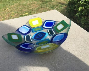 Glass fused bowl