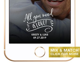 Love is All You Need Snapchat Geofilter, White