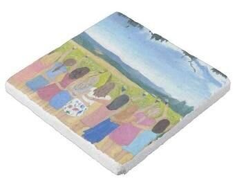Custom Stone Coaster (sold individually, not as sets) Bridesmaids Gifts; Will You Be My Bridesmaid; Bride; Art; Hostess; City; Lake; Beach