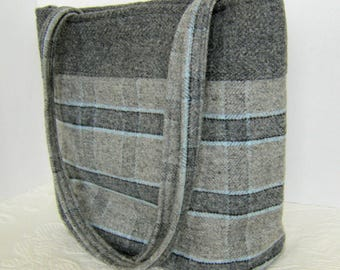 Plaid 100% Wool Bag