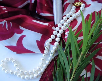 High Lustre Freshwater White Pearl Necklace 17 inches
