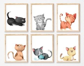 6 kitten set