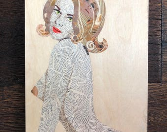 Anne 8x10 print on wood panel, signed by artist!