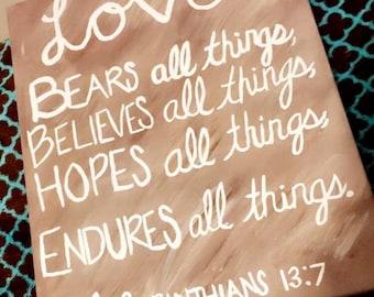 Bible Verse Canvas