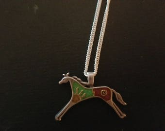 Sterling Silver Turquoise Horse