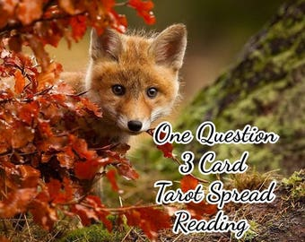 3 Card Tarot Spread Reading - One Question - Psychic