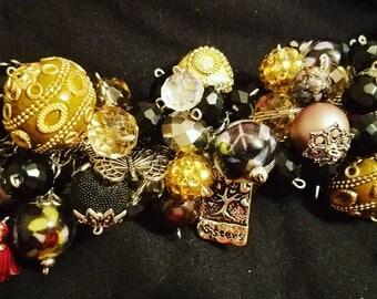 Chunky charm bracelet