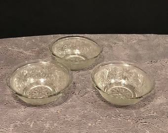 Depression Glass Anchor Hocking Sandwich Small Bowls
