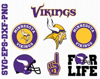 Minesota Vikings Svg, cut files, print files, clipart, vector, T-shirt design, football logo, circut, silhouette cameo