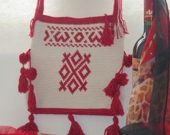 red/white bag