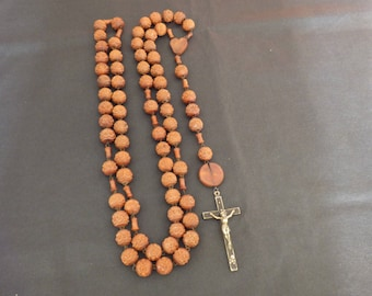 Lourdes olive wood rosary