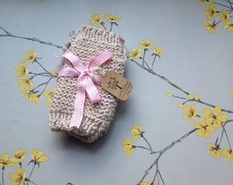Alpaca wrist warmers chunky knit