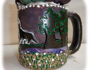 Bejeweled Mug Planter