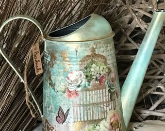 Watering Can Made by the art of Decoupage , made with real love for the Art