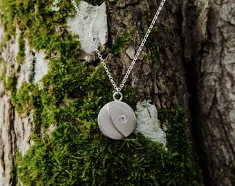 Waxing Gibbous Moon Necklace
