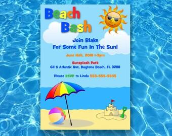 Beach Bash Birthday Invitation