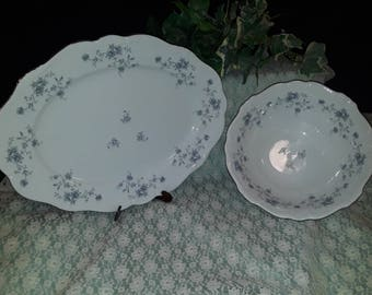 Johann Haviland Blue Garland 2 pc serving set