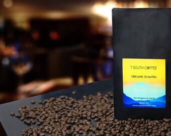 12 oz package 100% Organic Arabica Coffee from Sumatra Indonesia