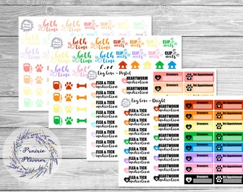 Pet Care - Dog - Planner Stickers