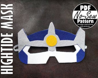 Hightide Rescue Bot No-Sew Mask Pattern