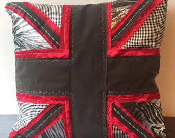 Union Jack Feather Cushion