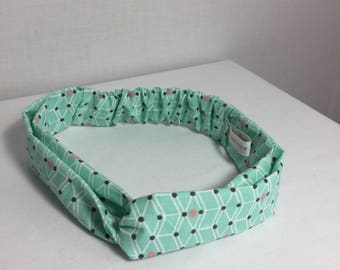 Green graphic baby headband