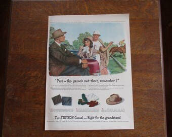 1947 Original Vintage Stetson hat ad