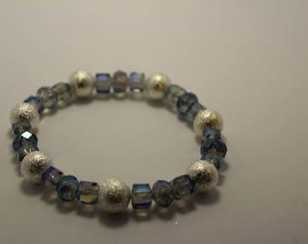 Beautiful, one of a kind glass beaded bracelet