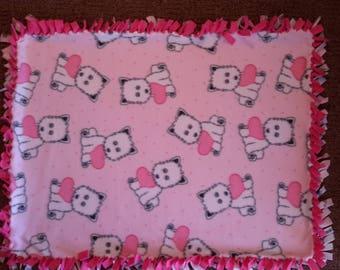 Pink scotties Pet blanket