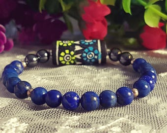 Unique bracelet, Lapis Lazuli jewelry, Gift for her,Gift for him