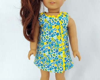 """Wrap style dress fits 18"""" dolls such as American Girl"""