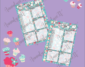 Mini Happy Planner - Cupcake Nation Daily Layout