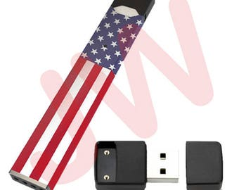 JUUL Charger, USB   Black   +1 Free American Flag Wrap