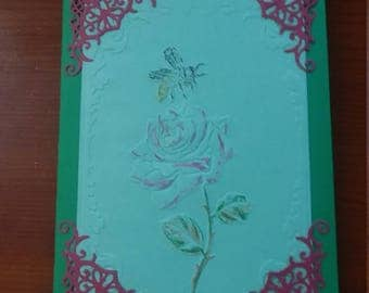 Packet of five note cards. Floral embellishments sentiments and spaces for your personal thoughts.
