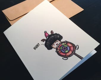 Huh- JChuDesign Greeting Card