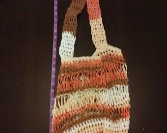Hand knit beach bag