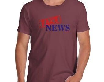 Funny Tshirts Fake News Men's T-Shirt