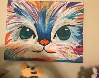 Multi colored cat