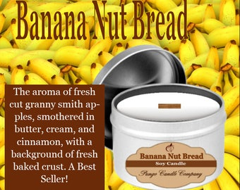 Banana Nut Bread Scented Soy Candle Tin (8 oz.)