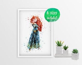 70% OFF Princess Merida, merida, brave disney, merida print, merida poster, brave print, merida printable, brave bears, disney 10966a
