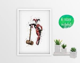 70% OFF Harley quinn, harley quinn art,batman harley quinn,harley quinn and joker print,batman,harley quinn print,harley quinn poster 10128a
