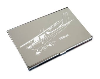 Cessna 152 Credit Debit Business Card Holder
