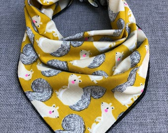 Squirrelly Squirrel Tie Dog Bandana