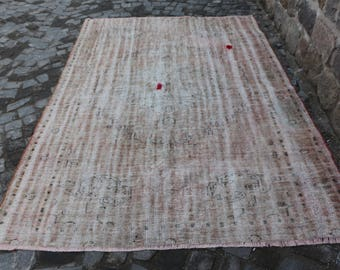 muted color handknotted turkish rug Free Shipping area rug 6. x 8.9 ft. decorative rustic rug tribal area rug bohemian wool carpet MB215
